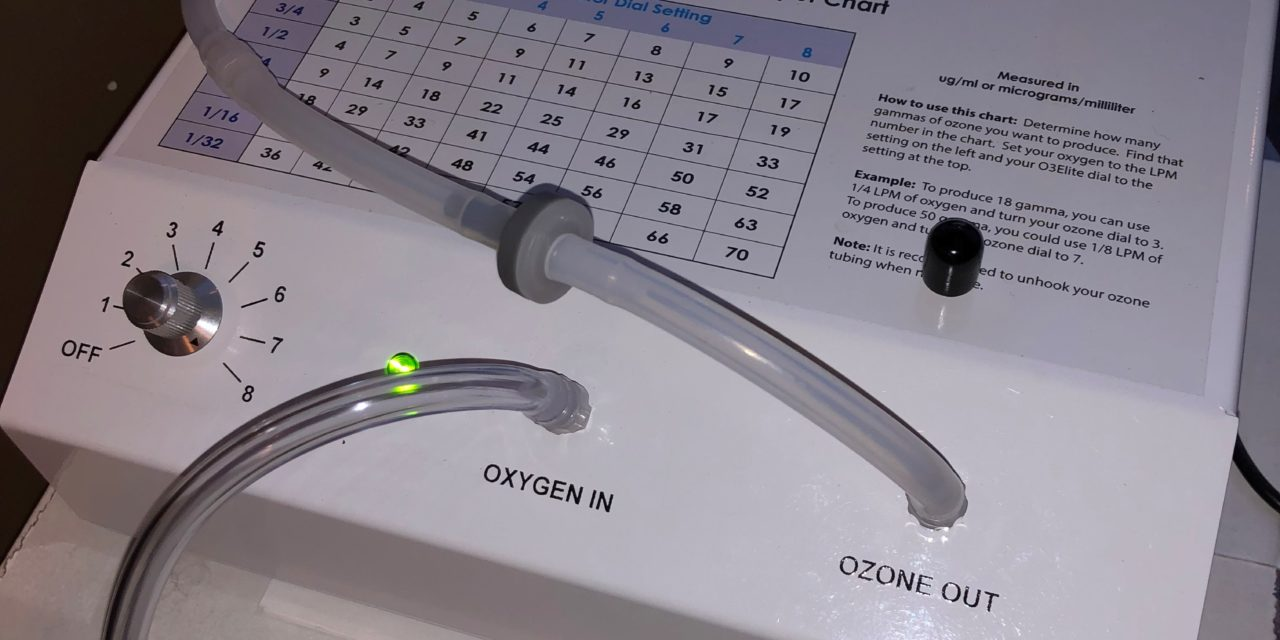 Ozone SATURATED Distilled Water becomes Good Medicine