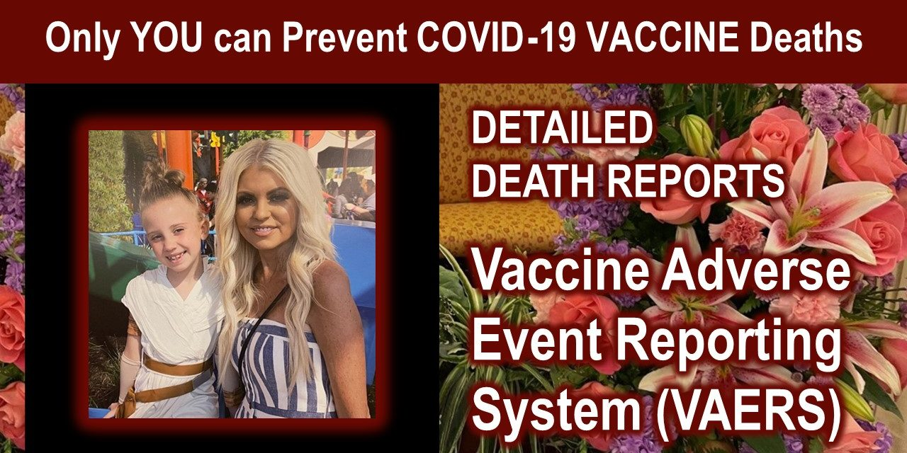 Only YOU can Prevent COVID-19 VACCINE DEATHS